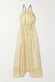 Jason Wu Ruffled floral-print crepon maxi dress