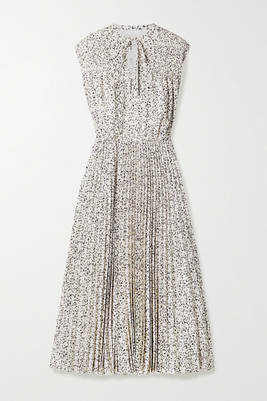 Jason Wu Printed pleated crepe de chine midi dress