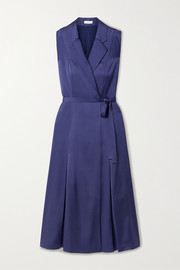 Jason Wu Belted satin wrap midi dress