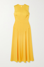 Jason Wu Paneled satin maxi dress