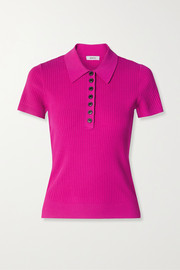 Jason Wu Ribbed-knit polo shirt