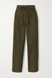 Jason Wu Belted cropped woven wide-leg pants