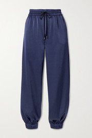 Jason Wu Satin tapered track pants