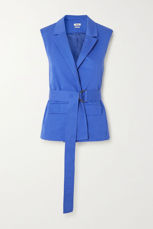 Jason Wu Belted cotton-blend vest