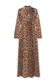 In The Mood For Love Nancy sequined leopard-print jersey maxi dress