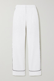 In The Mood For Love Loren piped sequined tulle wide-leg pants