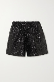 Rosana sequined tulle shorts
