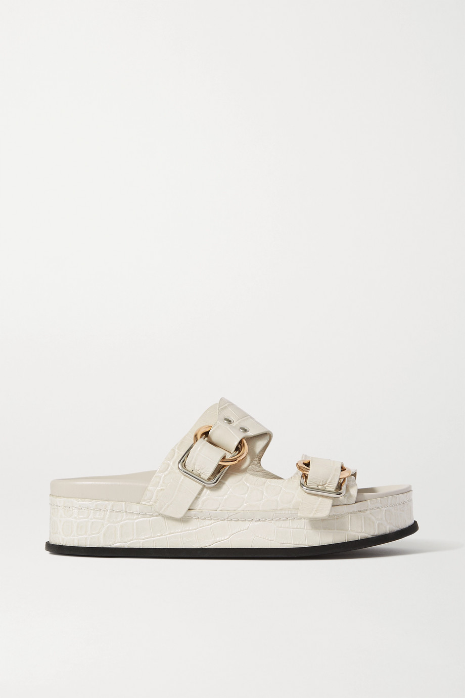 3.1 Phillip Lim + Space for Giants Freida croc-effect leather platform sandals