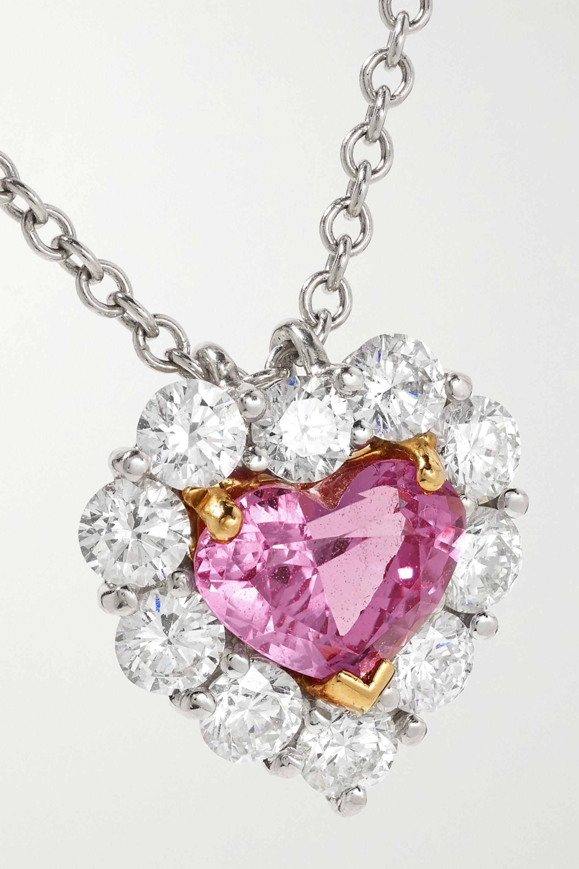 Bayco Platinum and 18-karat gold, sapphire and diamond necklace