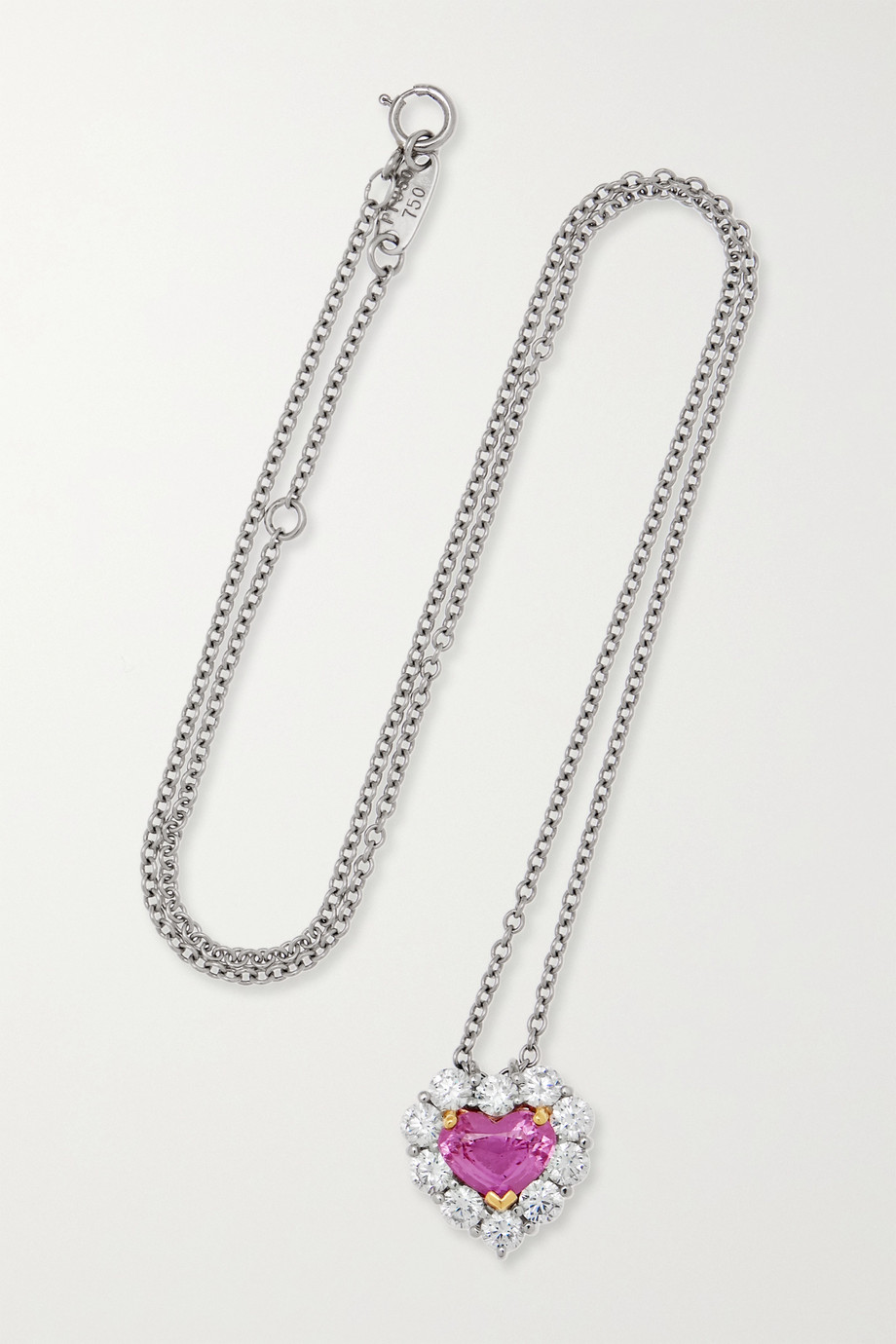 Bayco Platinum and 18-karat gold, sapphire and diamond necklace