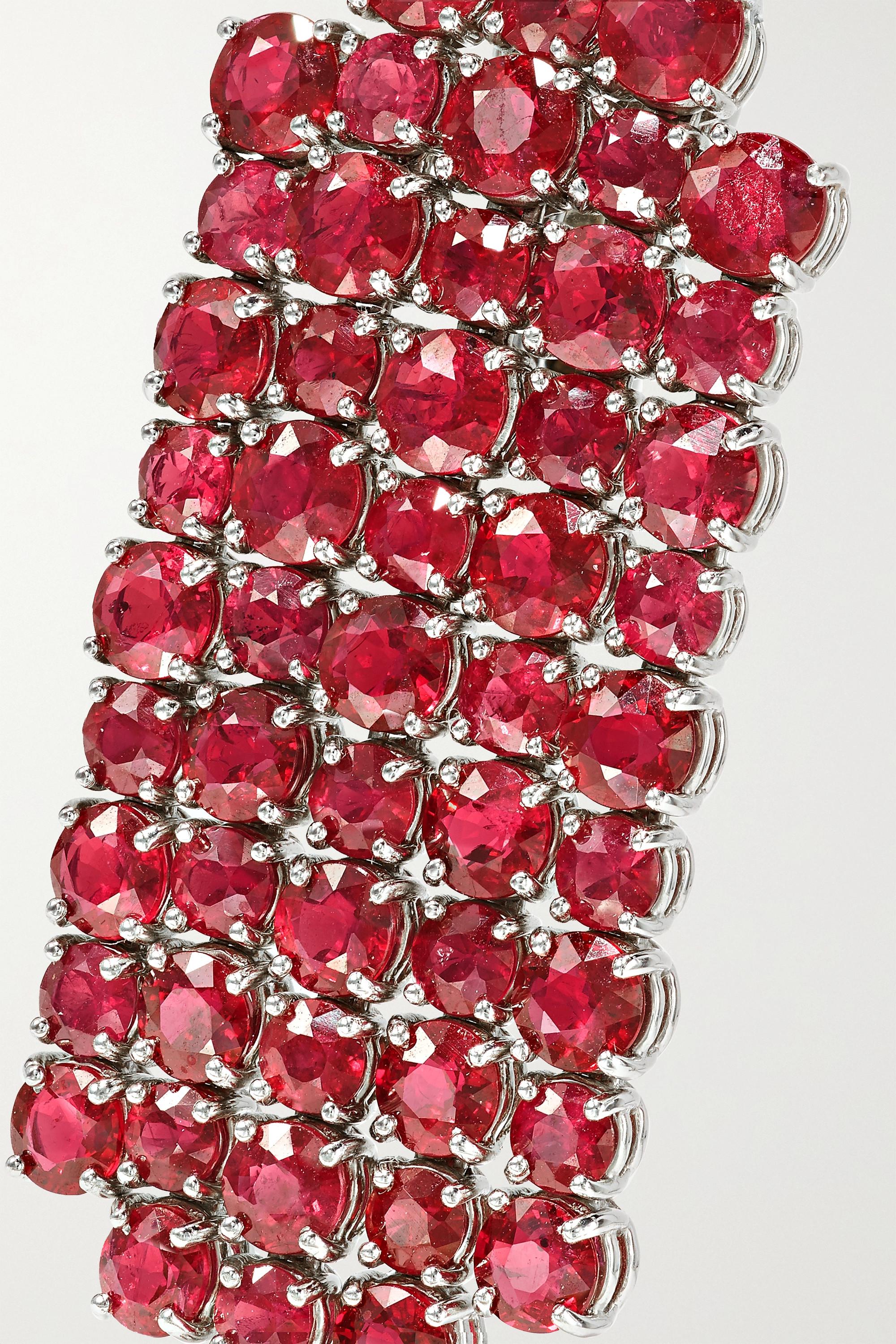 Bayco Platinum ruby earrings