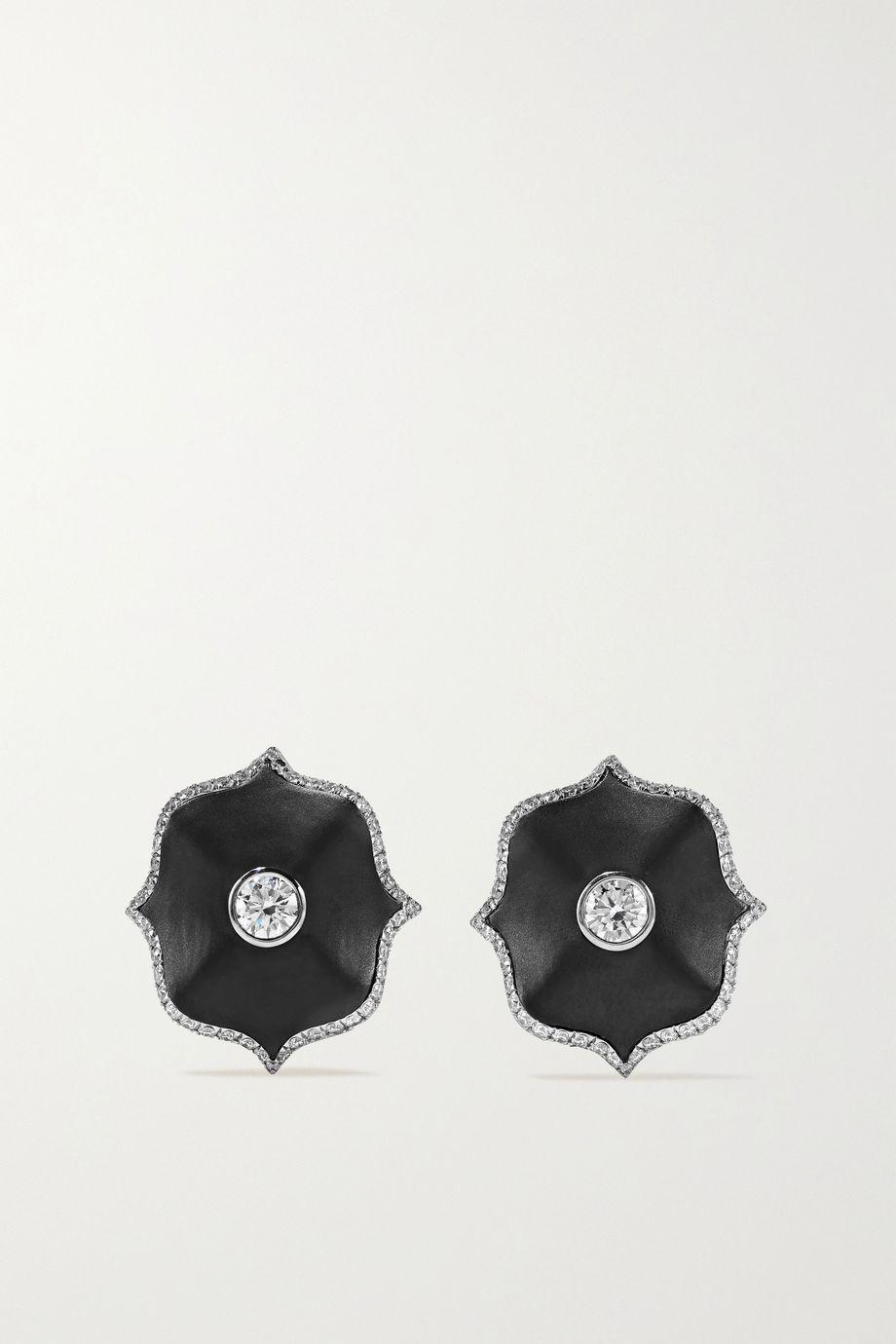 Bayco Platinum, diamond and ceramic earrings