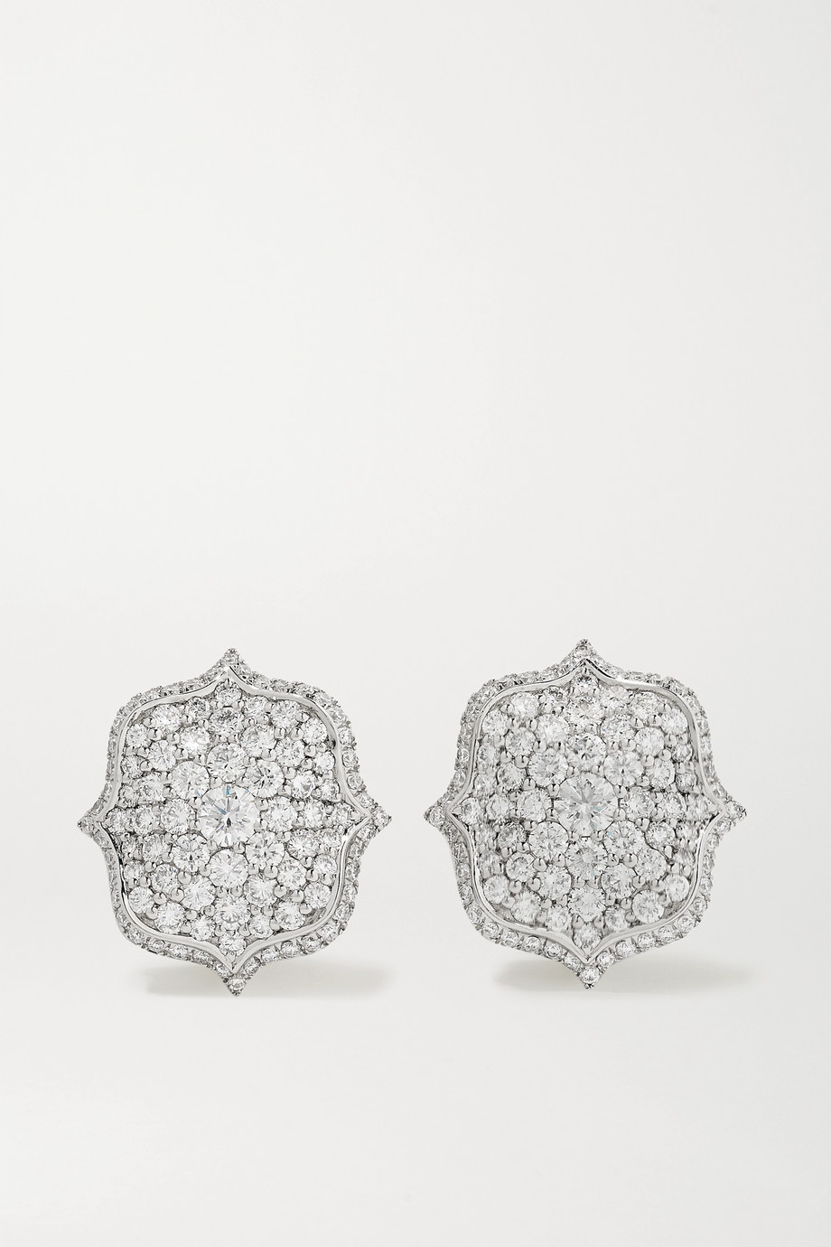 Bayco Ohrringe aus Platin mit Diamanten
