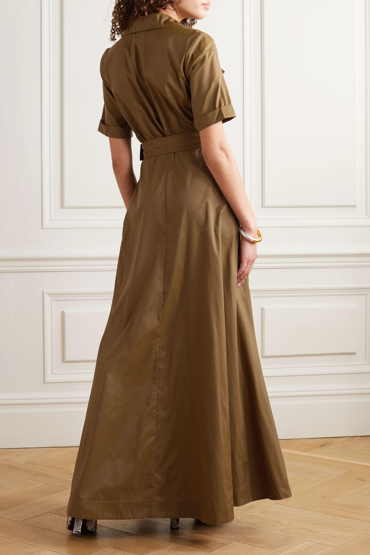 STAUD Millie 配腰带软壳面料超长衬衫式连衣裙