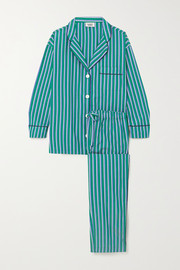 Sleepy Jones Marina striped cotton-poplin pajama set