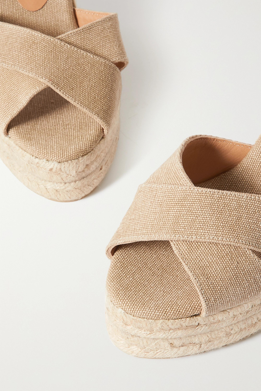 Castañer + NET SUSTAIN Blaudel 100 canvas wedge sandals