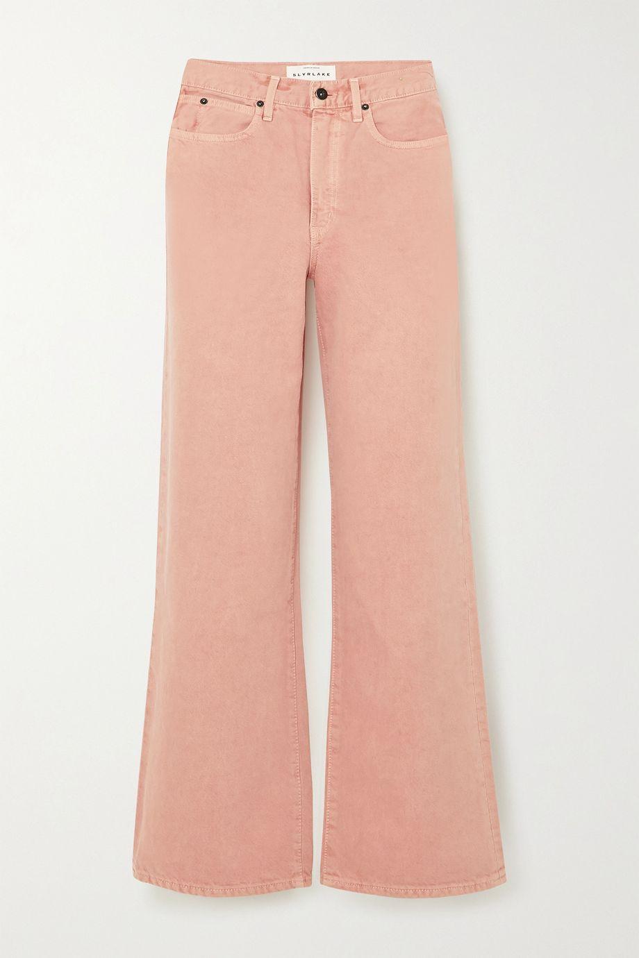 SLVRLAKE Grace cropped high-rise wide-leg jeans