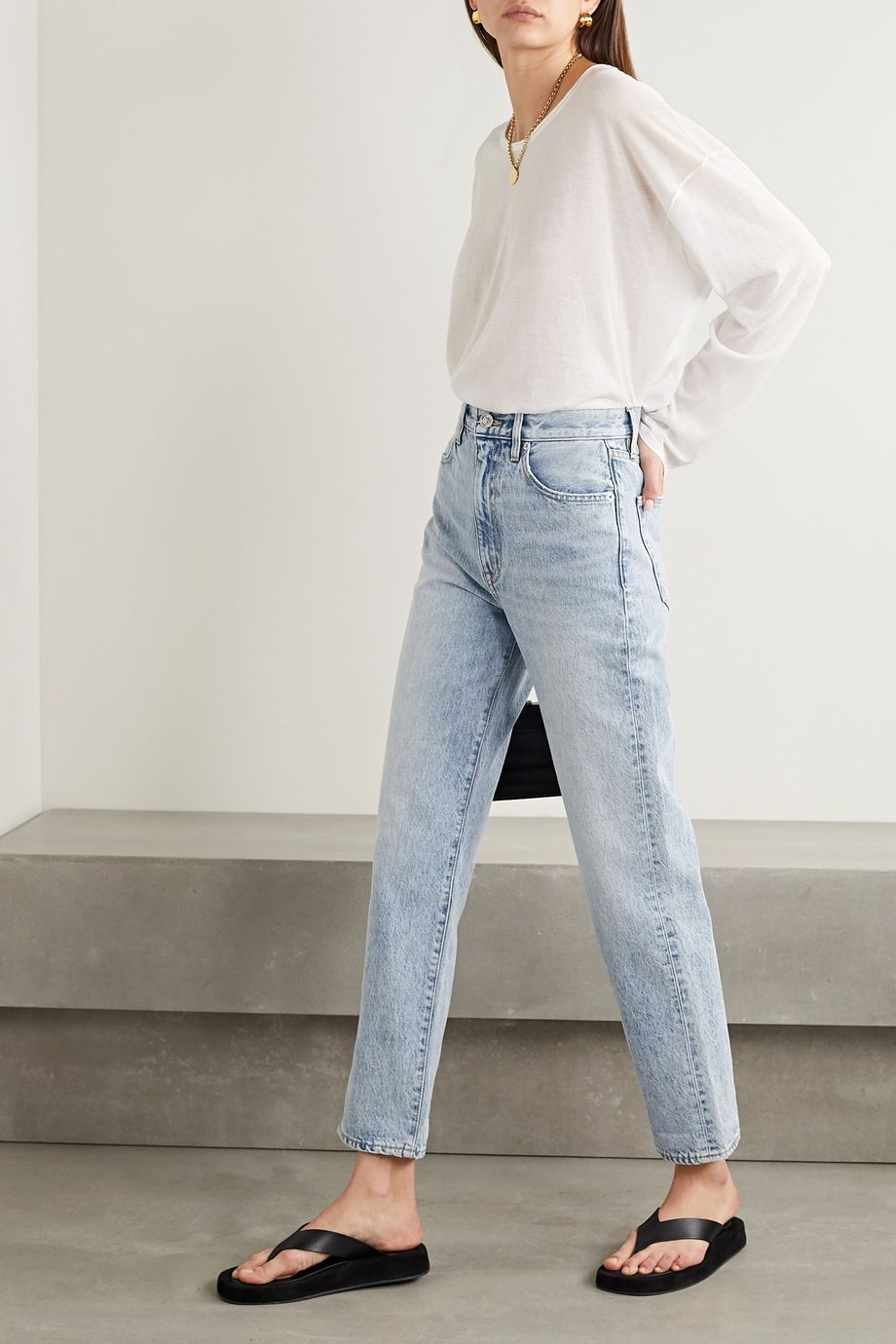 SLVRLAKE Dakota high-rise straight-leg jeans