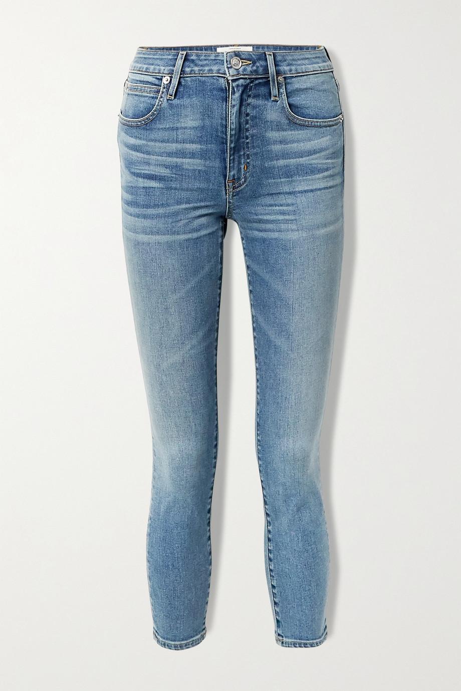 SLVRLAKE Lou Lou cropped mid-rise slim-leg jeans