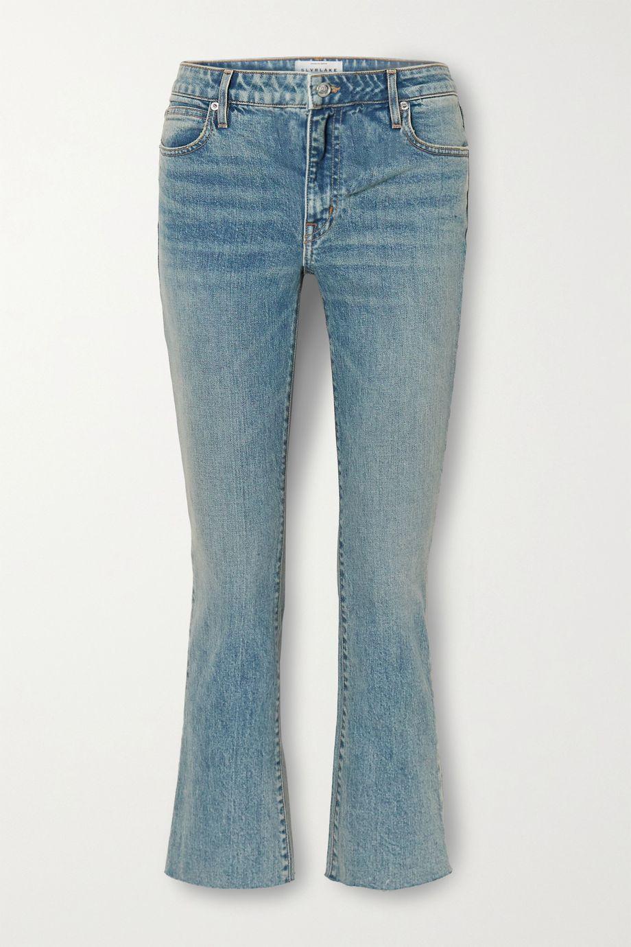 SLVRLAKE Sara low-rise cropped bootcut jeans