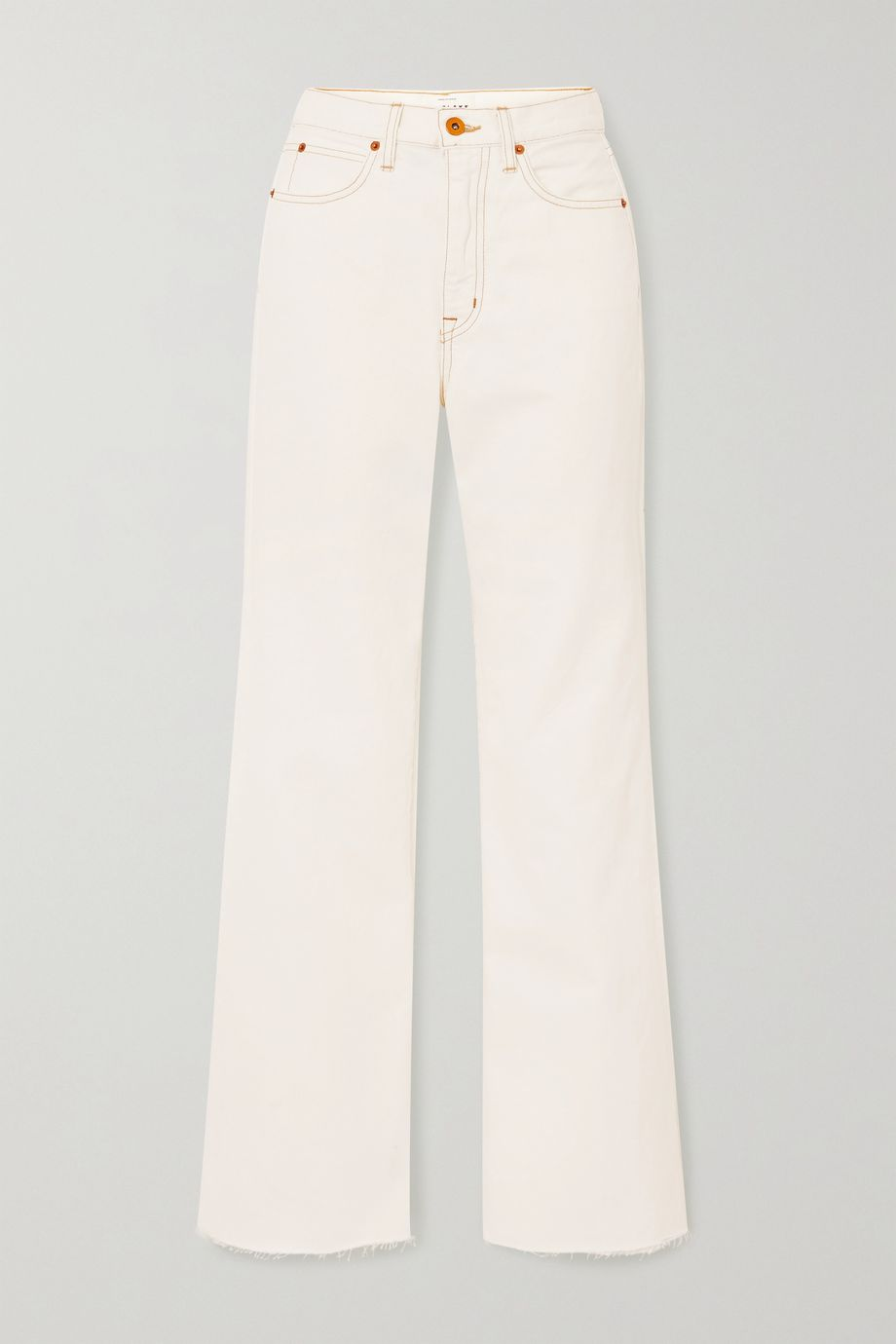 SLVRLAKE Grace frayed high-rise flared jeans