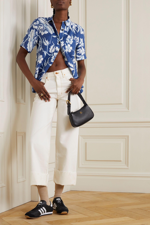 SLVRLAKE Grace frayed high-rise flared jeans