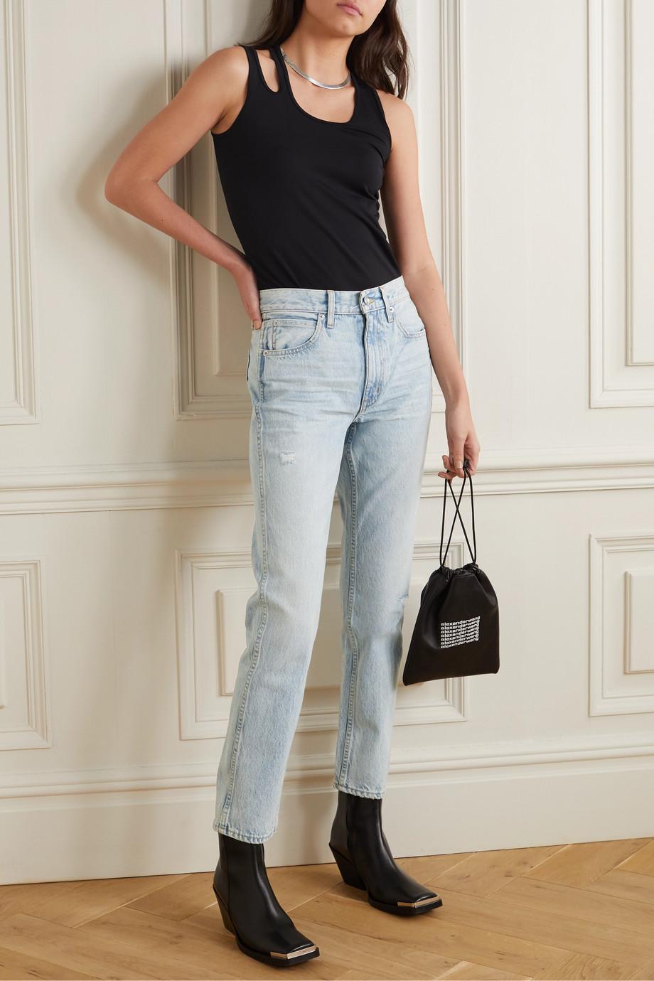 SLVRLAKE Virginia 高腰直筒牛仔裤