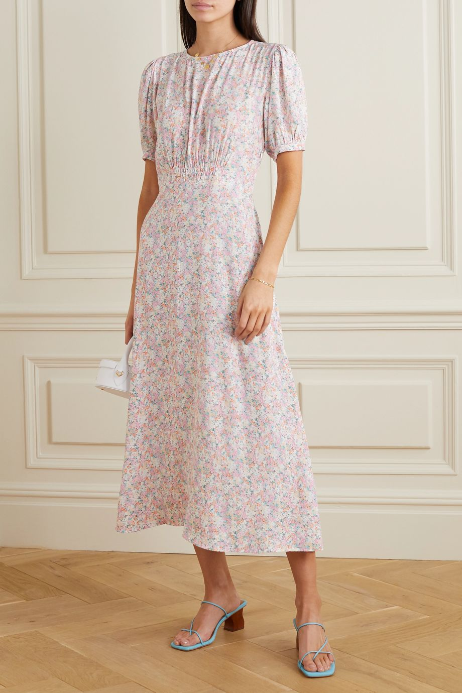 Faithfull The Brand Beline floral-print crepe midi dress