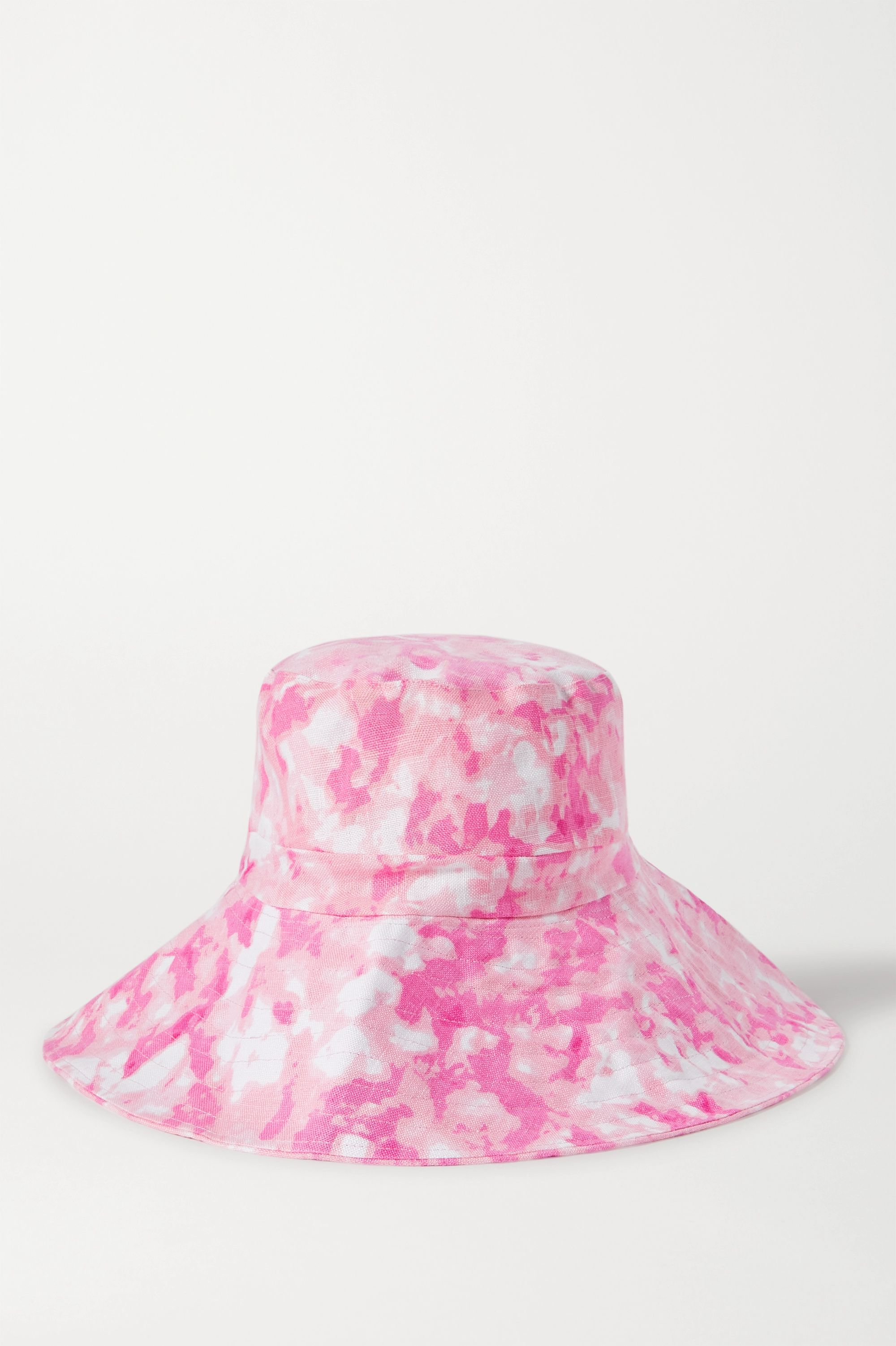 Faithfull The Brand Frederikke tie-dyed linen sunhat
