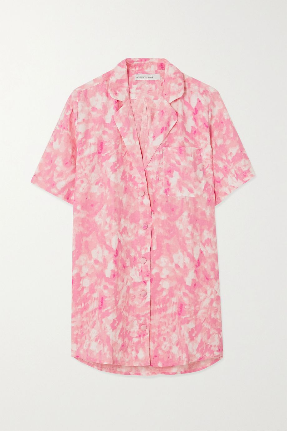 Faithfull The Brand Charlita tie-dyed linen shirt
