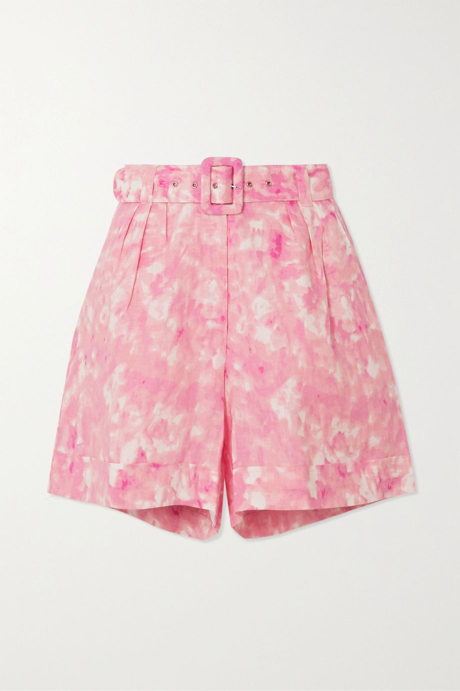Faithfull The Brand Les Deux belted tie-dyed linen shorts