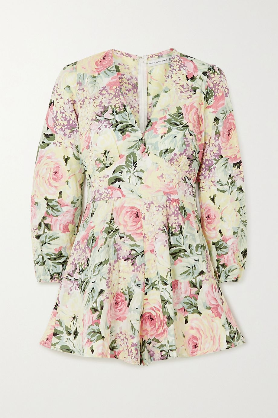 Faithfull The Brand Maribelle floral-print linen playsuit
