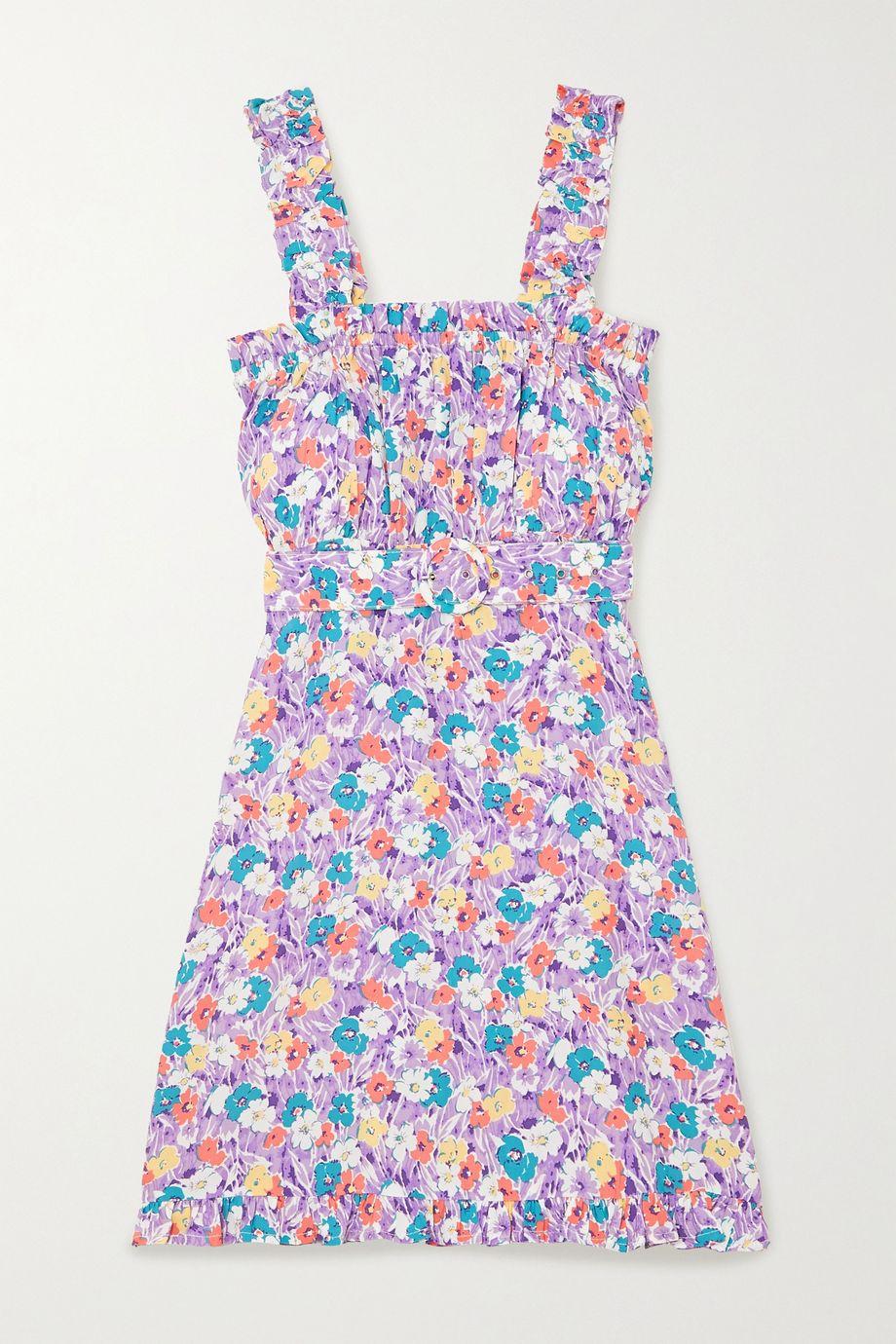 Faithfull The Brand + NET SUSTAIN Mid Summer Minikleid aus Crêpe mit Blumenprint