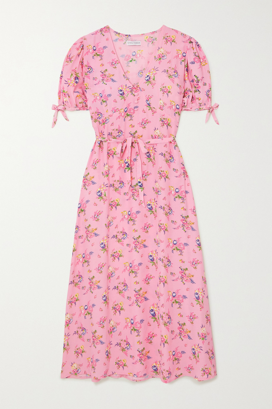 Faithfull The Brand Daija floral-print crepe midi dress
