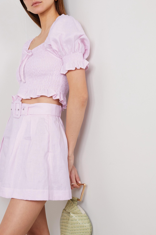 Faithfull The Brand + NET SUSTAIN Lenora cropped shirred linen top
