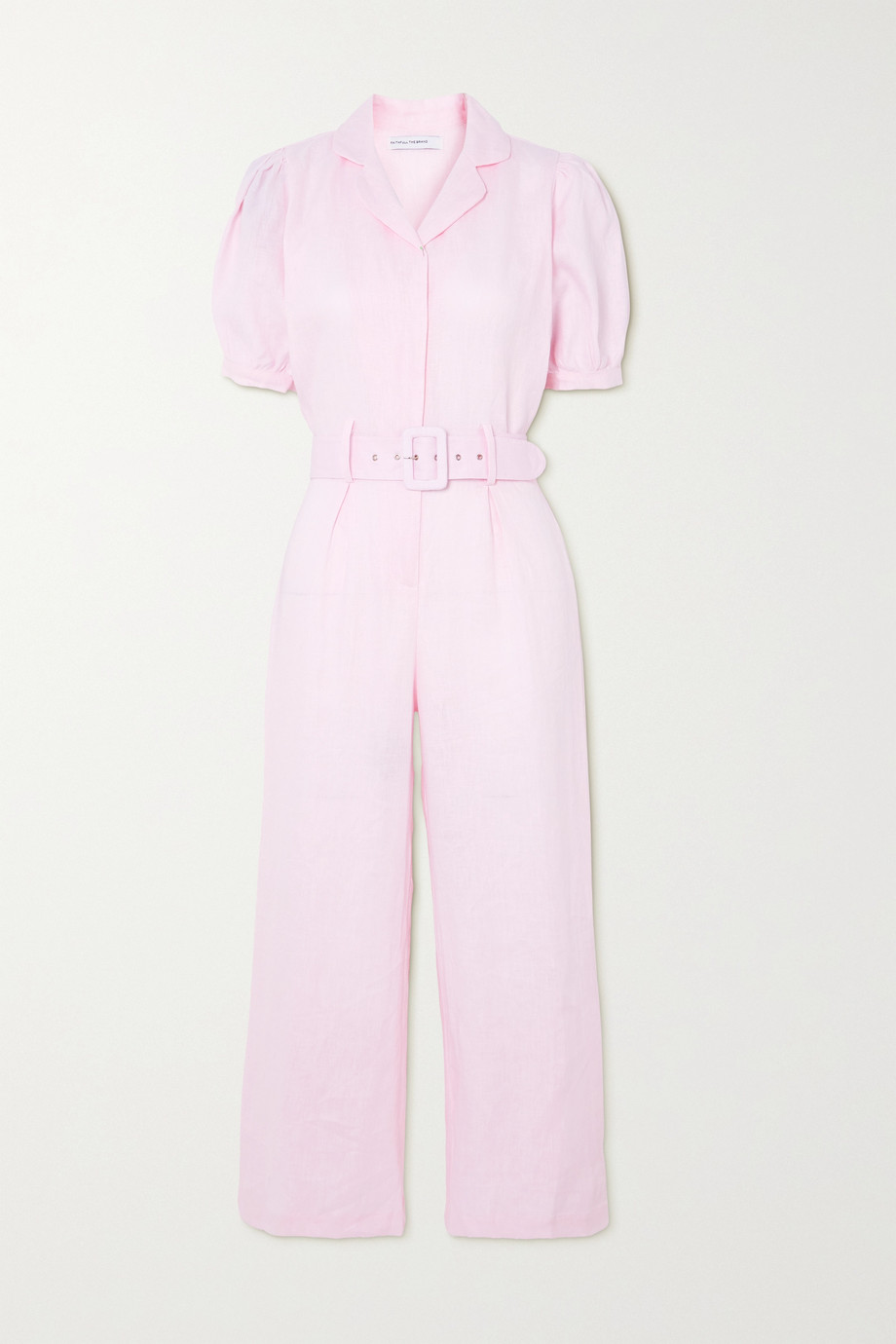 Faithfull The Brand Frederikke belted linen jumpsuit