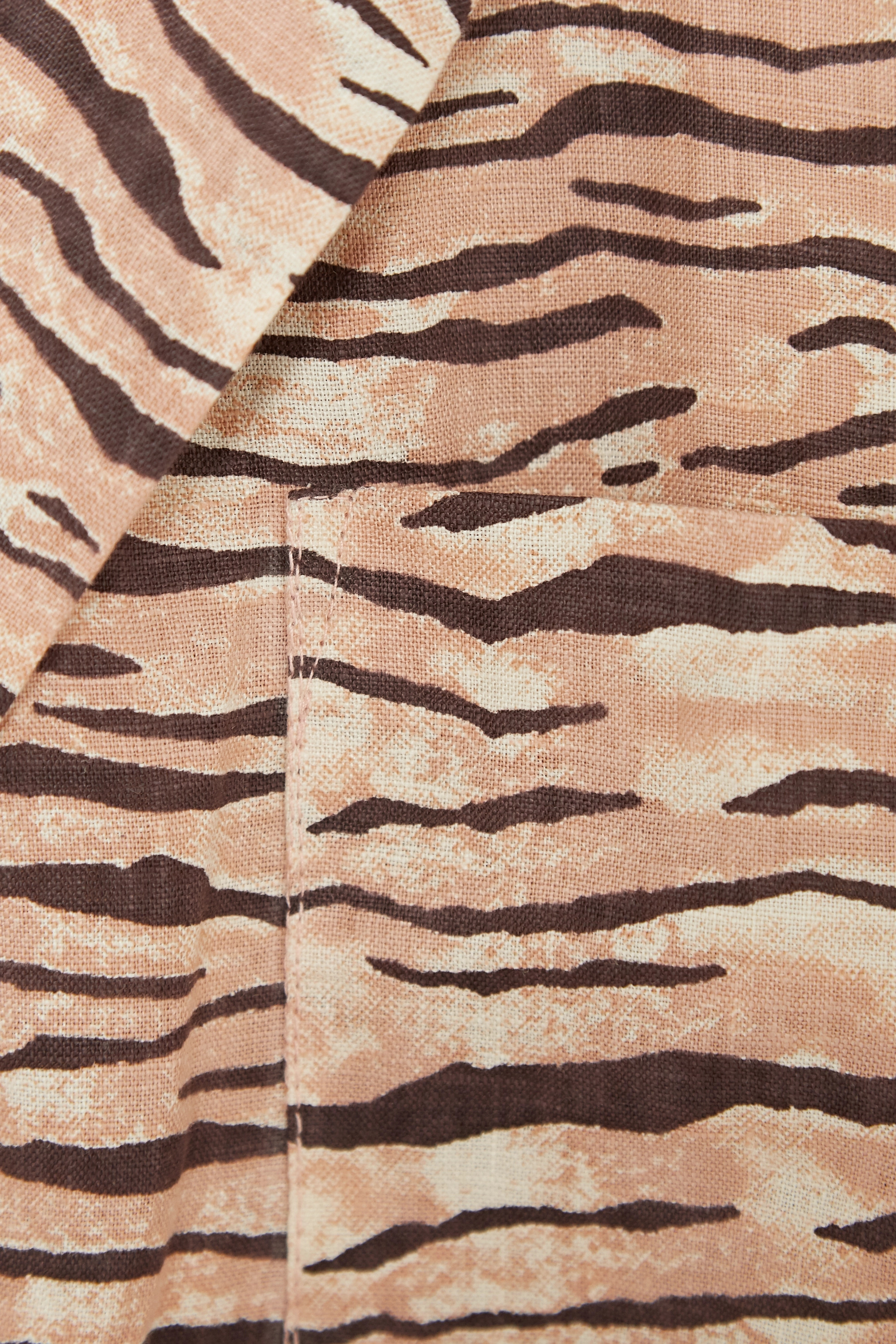 Faithfull The Brand + NET SUSTAIN Charlita tiger-print linen shirt