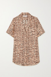 Faithfull The Brand Charlita tiger-print linen shirt
