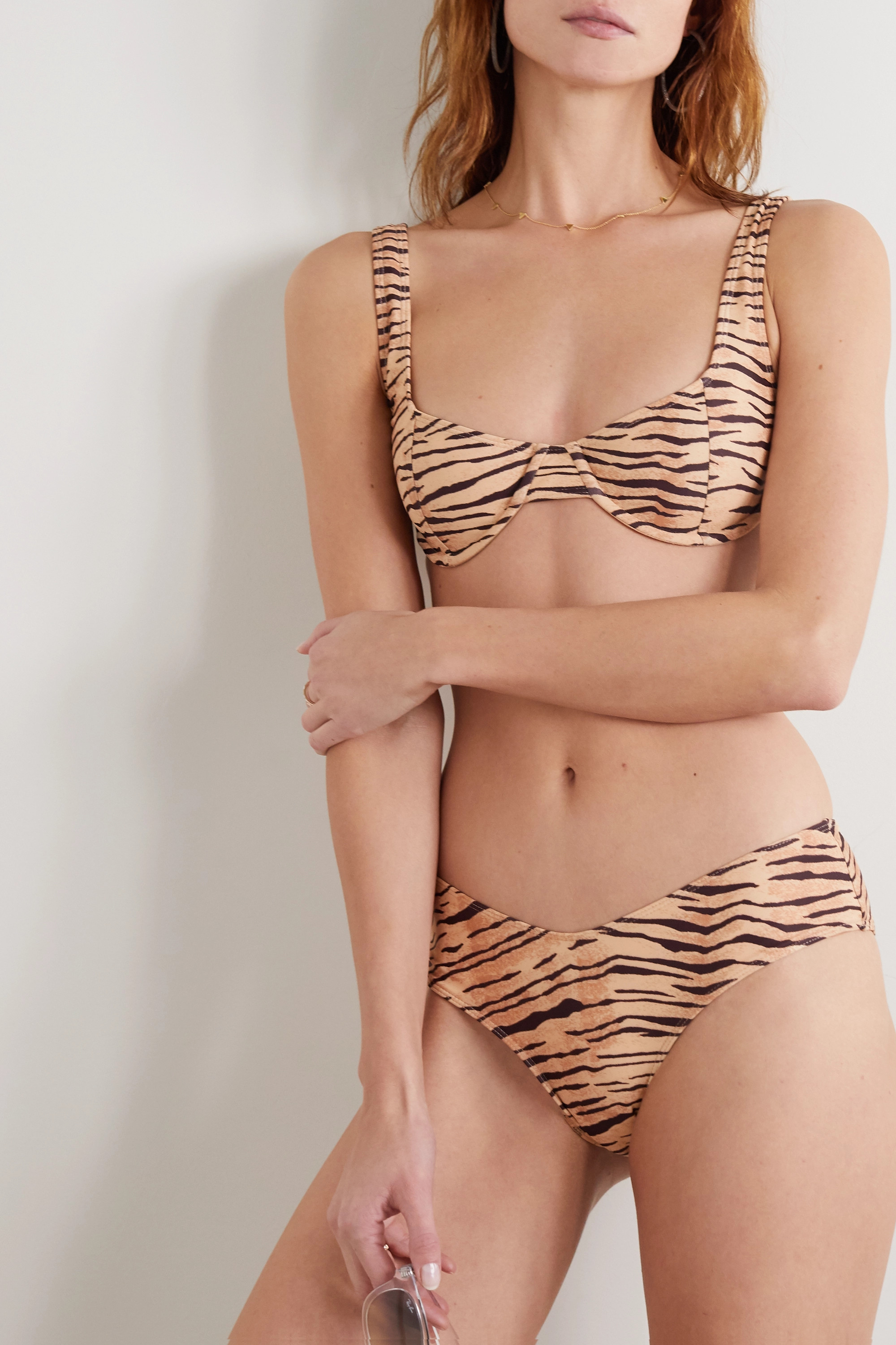 Faithfull The Brand + NET SUSTAIN Bloom tiger-print underwired bikini top