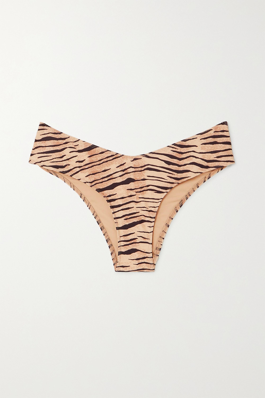 Faithfull The Brand + NET SUSTAIN Ida tiger-print bikini briefs