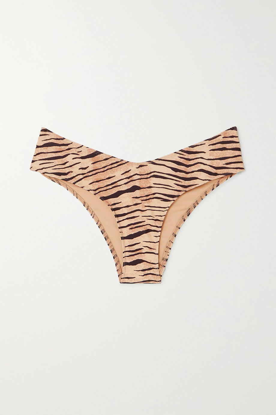 Faithfull The Brand Ida tiger-print bikini briefs