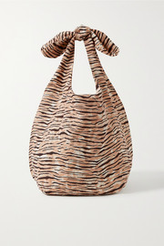 Faithfull The Brand + NET SUSTAIN Hanna tiger-print linen tote
