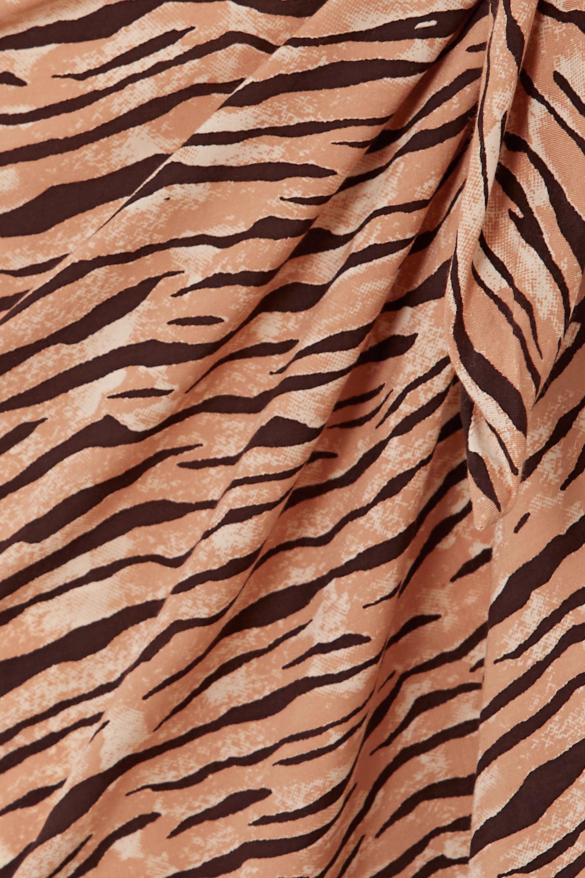 Faithfull The Brand + NET SUSTAIN tiger-print voile pareo