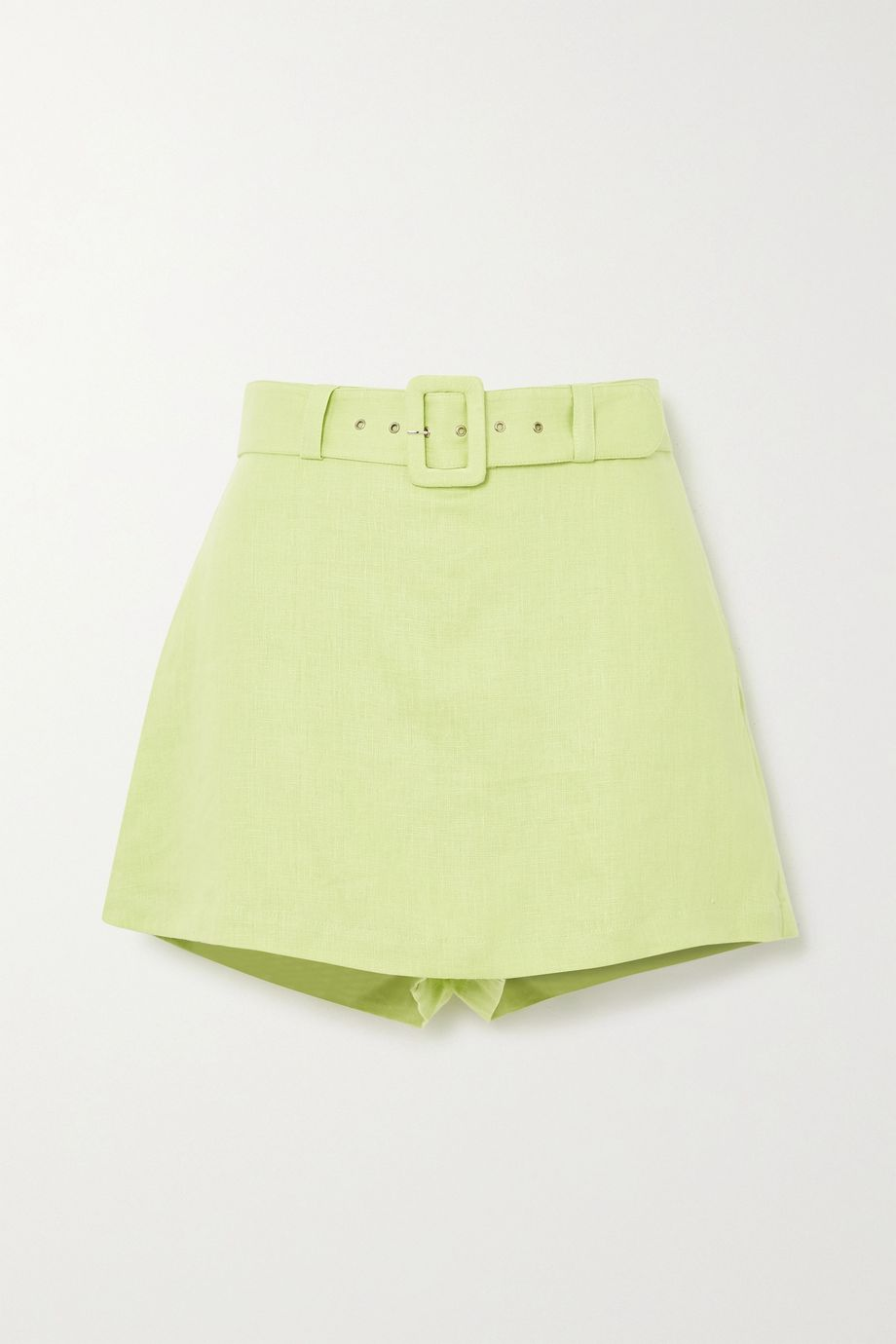 Faithfull The Brand Celia belted layered linen shorts