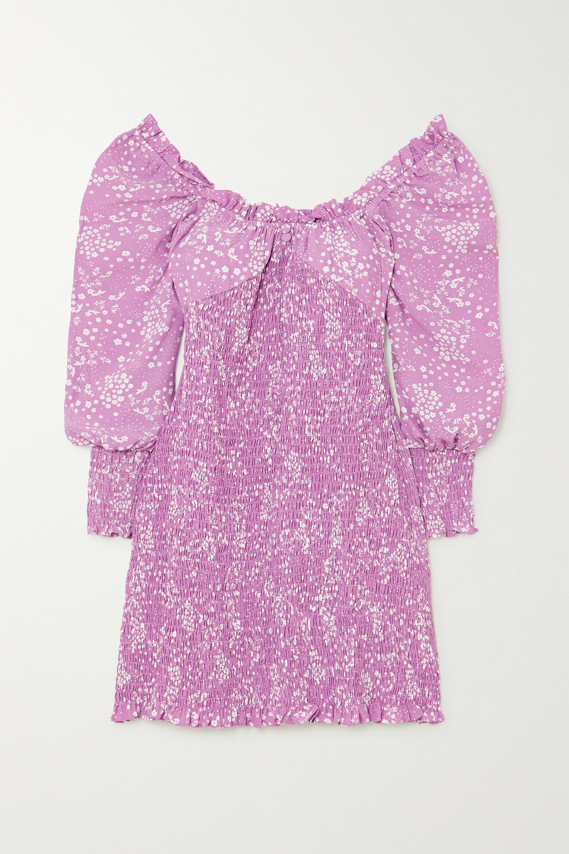 Faithfull The Brand + NET SUSTAIN Gombardy shirred floral-print crepe mini dress