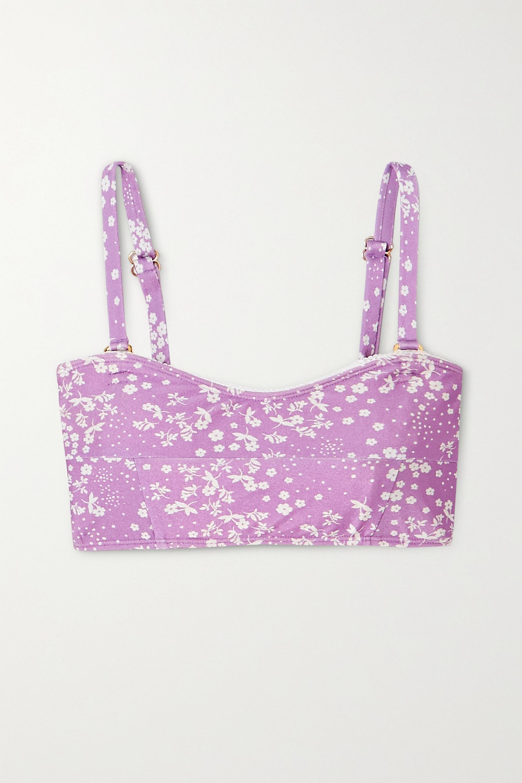 Faithfull The Brand + NET SUSTAIN Bonnieux floral-print bandeau bikini top