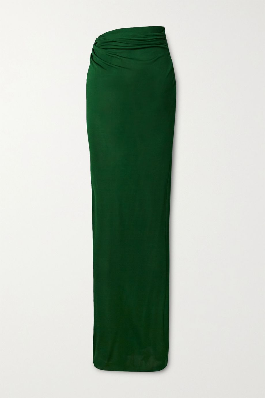 Brandon Maxwell Draped stretch-jersey maxi skirt