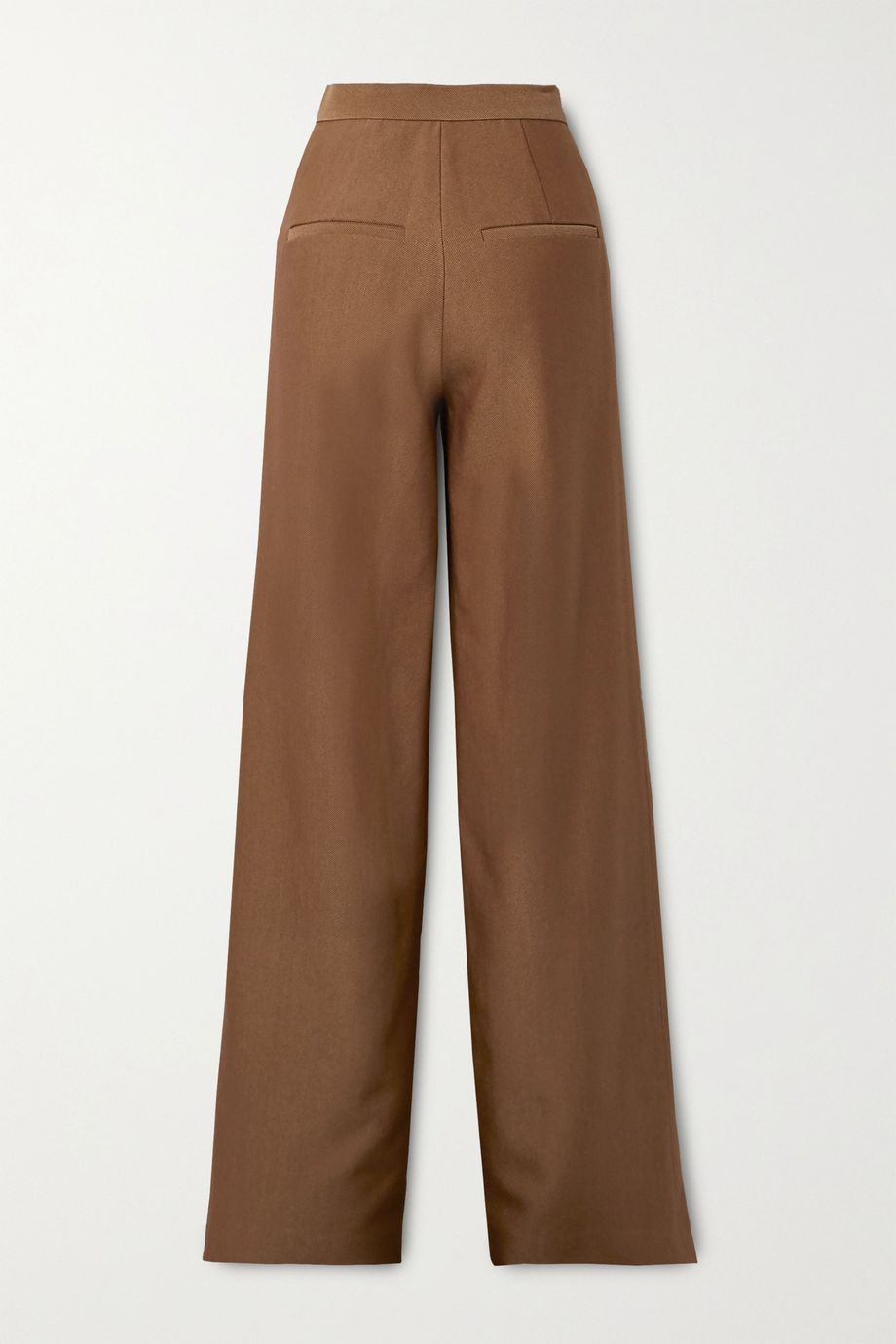 Brandon Maxwell Wool and silk-blend twill wide-leg pants