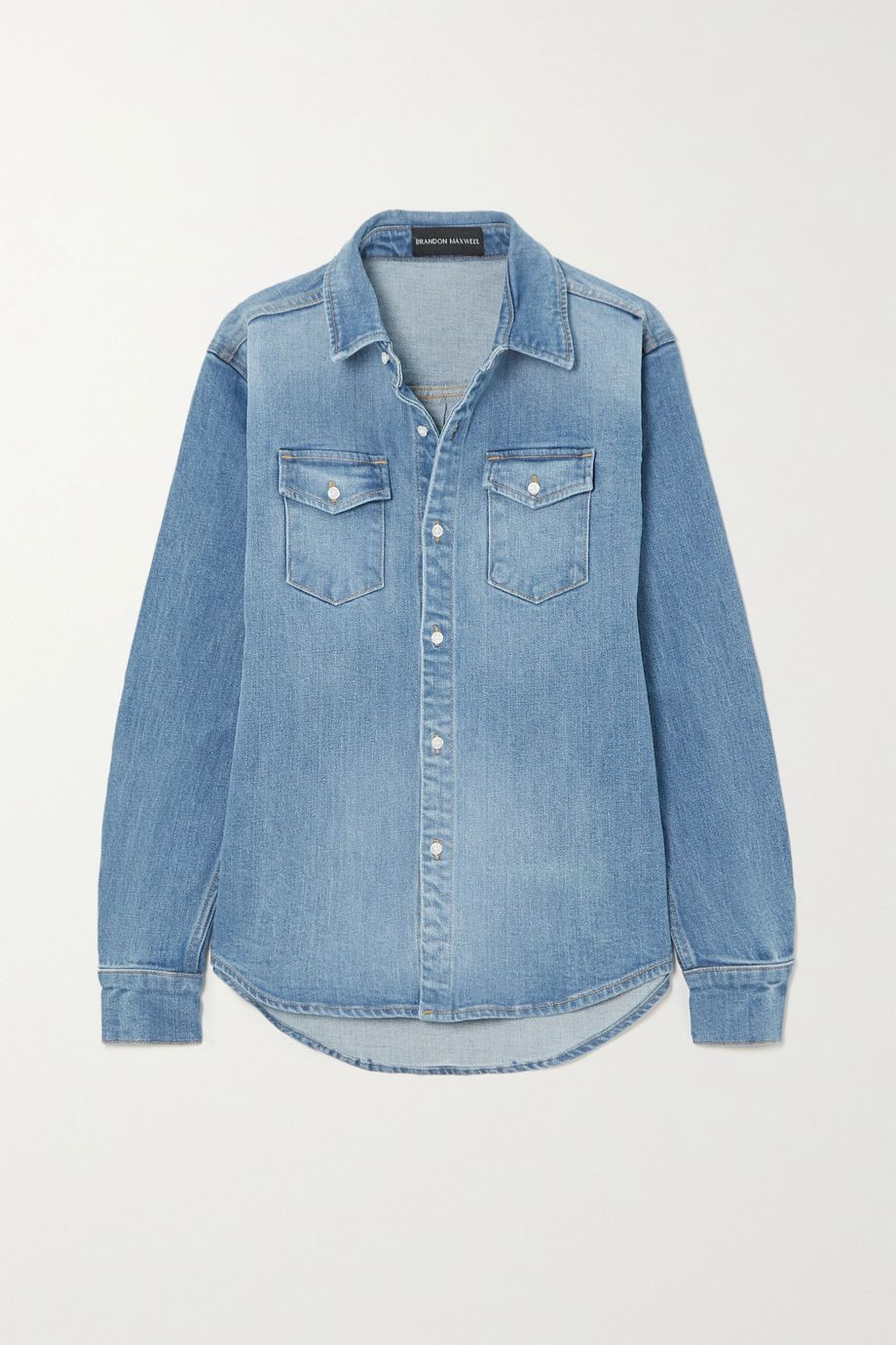 Brandon Maxwell Denim shirt