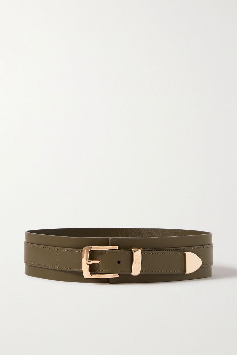 Brandon Maxwell Leather waist belt